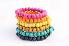 Men's Basic Color Wood Bracelet Choice of Color by MenCord on Etsy, $6.00