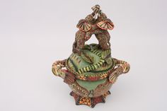 Dancing Elephants Tureen | Hand-made by artists from Ardmore Ceramics South Africa