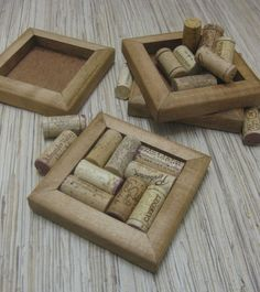 wine cork coasters. Mom and Dad always need coasters.