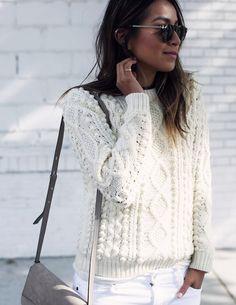 Le pull irlandais blanc   un basique mode à avoir dans son dressing ! –  Taaora – Blog Mode, Tendances, Looks b1d845ba123