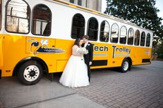 It's not a Georgia Tech wedding without the Tech Trolley!