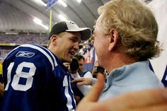Peyton and Archie Manning Peyton And Eli Manning, First Football, National Football League, Sports Teams, Sheriff, Archie, Broncos, Football Players, My Man