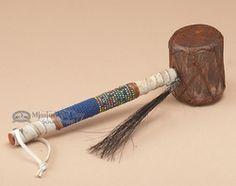 "Native American Navajo Indian Drum Rattle 7"" (133)"