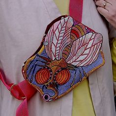 #handembroidered #wearable art a fully functioning, unique one of a kind bag Wearable Art, Originals, Crossbody Bag, Gucci, Shoulder Bag, Unique, Bags, Fashion, Handbags