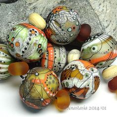 "Anastasia Lampwork Beads 7 ""Las Cañadas"" SRA | eBay http://www.ebay.com/itm/261374435603?ssPageName=STRK:MESELX:IT&_trksid=p3984.m1555.l2649"