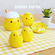 "44 Likes, 2 Comments - DAISO JAPAN (@daisoshanghai) on Instagram: ""#新品 上市 #DAISO #JAPAN #大创 生活馆 #小鸡 #陶瓷 #餐具 疗愈的#黄色 小鸡可爱又呆萌的神情,能够一扫所有烦躁的心情~…"""