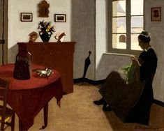 Marius Borgeaud (Swiss, 1861–1924), La table rouge et les poissons