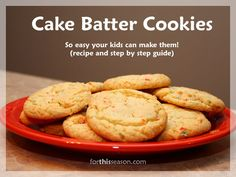 Cake Batter Cookies recipe step by step