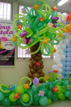 Источник интернет Balloon Palm Tree, Balloon Flowers, Balloon Wall, Balloon Garland, Balloon Decorations, Balloon Stands, Balloons And More, Balloon Arrangements, Party Hacks