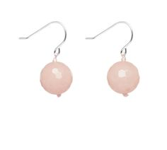 Fierce Elegance Faceted Earring in Ballet Pink Quartzite by Lola Rose