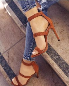 Casual with a side of uptown! These heels can be taken day or night. Pair with denim or a cute summer dress. Features an open toe, stiletto heel, back zipper and lightly padded insole for comfort. Hee
