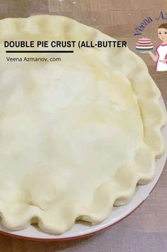 This is your basic unsweetened all-butter pie crust recipe or pate brisee dough that's rich, buttery, flaky, and tender. Today, we make a double pie crust from scratch for an apple pie #doublepiecrust #piecrust #howtopie #allbutterpiecrust #crustforpie #pastryforpie #piepastry Deep Dish Pie Crust Recipe, Pie Dough Recipe, Pie Crust Dough, Easy Pie Crust, Pie Crust Recipes, Apple Pie Recipes, Pie Crusts, Buttery Pie Crust Recipe, Pie Crust With Butter