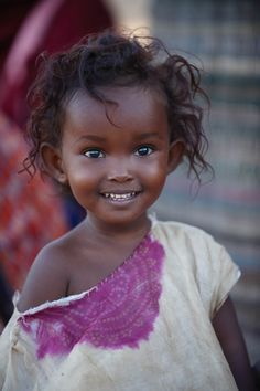 She is absolutely adorable. Beautiful black child!