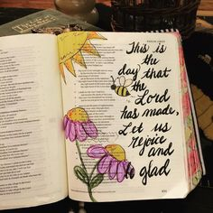 Psalm 118:25 This is the day the Lord has made let us rejoice and be glad #illustratedfaith #biblejournaling #biblejournalingcatholics by lbclancy