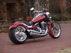 The Yamaha Star Raider S Custom Style Handlebar Clamp Is Black On The Pictures Vintage Motorcycles, Custom Motorcycles, Cars And Motorcycles, Chopper Motorcycle, Moto Bike, Custom Street Bikes, Custom Bikes, Harley Bikes, Harley Davidson Motorcycles