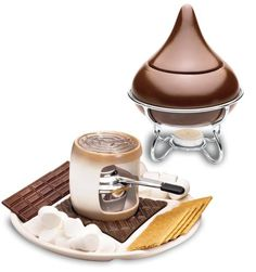 Hershey's Smore Maker with bonus Hershey's Kiss fondue Cool Kitchen Gadgets, Cool Kitchens, Indoor Smores, Fondue Maker, Fondue Restaurant, Fondue Fountain, Cookware Accessories, Fondue Party, Cheese Maker