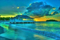 Sunset at Choc Beach, St. Lucia