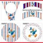 Moldes de Pato Donald para decorar fiesta de cumpleaños