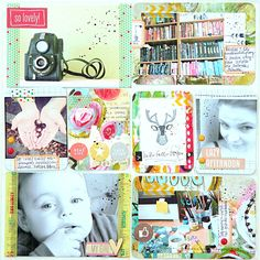 Rae Missigman mixed fabric with Art Pops™ cards to create this beautiful sketchbook! I love Magda Bolinska/mumkaa's Project Life style. Kristin Peterson cleverly took an Art Pops™ card, added to it and create a painting.