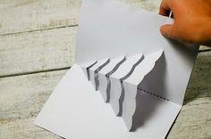 how to make a christmas tree pop up card 3