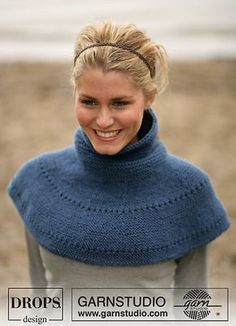 Ponchos & Shawls - Free knitting patterns and crochet patterns by DROPS Design Loom Knitting, Knitting Patterns Free, Knit Patterns, Free Knitting, Free Pattern, Knitted Capelet, Knit Cowl, Knit Or Crochet, Crochet Scarves