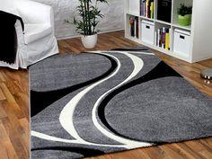 Designer Teppich Maui Grau Schwarz Style in 5 Größen REDUZIERT Maui http://www.amazon.de/dp/B00PJGEZ1U/ref=cm_sw_r_pi_dp_taRcxb11TN04A
