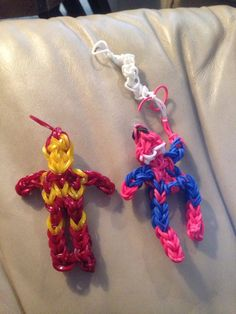 Rainbow loom super heroes.