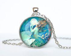 Mermaid  necklace Mermaid  pendant Mermaid  jewelry vintage style Henry O'Hara Clive