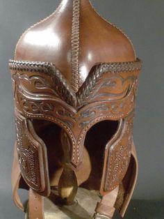 Fancy leather helm