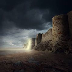 Create a Gigantic Fortress with a Mysterious Glow in Photoshop