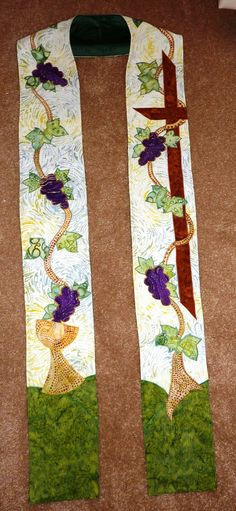 Clergy Stole I am the vine you are the branches by SeektheSacred, $225.00