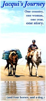 Jacqui's Journey: online book about her journey across NZ on horseback!