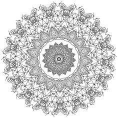 Heal Mandala Coloring book for adults Pattern 7