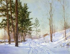 walter launt palmer path in a winter | winter walter launt palmer american painter 1854 1932 cloud shadows