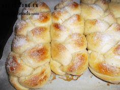 Así se come en Granada: trenza de brioche - Bread - Easy Baking Recipes, Healthy Baking, Cooking Recipes, Empanadas, Challah Bread Recipes, Brioche Bread, Biscuit Bread, Sweet Dough, Decadent Cakes