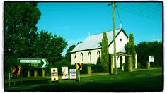 Binalong Church. Taken Feb 2015. Available for purchase from Red Bubble: http://www.redbubble.com/people/cyn75/works/14338885-binalong-church #binalong #newsouthwales #australia #country #travel #church #building #architecture #burleygriffinway #summer