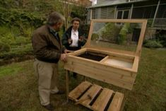 Learn how to build a cold frame for your plant cuttings; watch a video of techniques for building the frame; includes tips materials and tools lists. #howtobuildashed