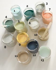 According to Martha these are the most versatile paint colors that go in any room. Yes, they're paint colors. Yes, it's a Martha Stewart thing. But they are still the perfect tattoo color palette for me.