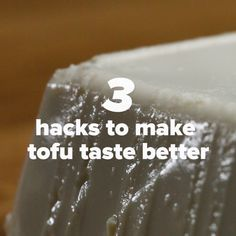 3 Hacks To Make Tofu Taste Better. Simple things, but helpful :) and it popped up perfect time xD i plan to swap my meat to tofu soon, its just cheaper, tastes better (to me), and i get less anxiety cooking tofu because i wont undercook and poision folk Veggie Recipes, Whole Food Recipes, Cooking Recipes, Cooking With Tofu Tips, Healthy Tofu Recipes, Firm Tofu Recipes, Cooking Tofu, Veggie Food, Recipes Dinner
