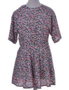Vintage Beyond Retro Label Short Dress Multi-colour With An Elasticized Waist…