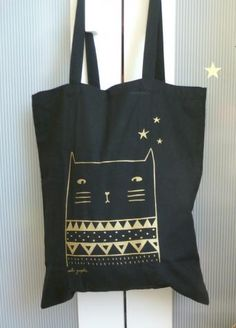 Tote bag Golden cat