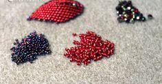 Z całego serca …: Tutorial- Russian Leaf- listek z koralików – My All Pin Page Beading Projects, Beading Tutorials, Jewelry Patterns, Beading Patterns, Seed Bead Jewelry, Beaded Jewelry, Jewellery, Seed Beads, Beading Techniques