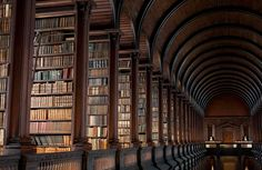 Trinity College Library in Dublin Ireland | Yellowtrace