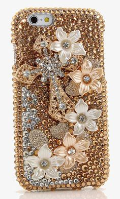 Golden Cross Design crystals bling case made for iPhone 6. bling iphone 6s plus…