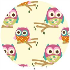 Love this owl fabric