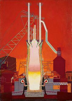 Oskar Dominguez, L'usine (La fabrica), 1949/1950