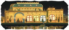 The National Theatre's 145 Anniversary [145 лет Национальному театру] /This doodle was shown: 16.05.2013 /Countries, in which doodle was shown: Czech Republic
