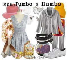 Mother and daughter outfits inspired by Mrs. Jumbo and Dumbo!