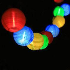 InnooTech 20er LED Solar Lichterkette Lampions Garten Aus…