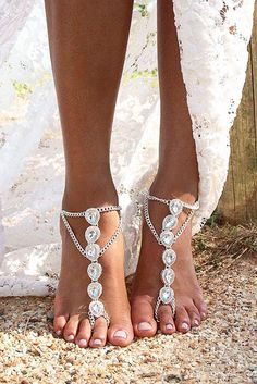27 Beach Wedding Shoes That Inspire ❤ See more: http://www.weddingforward.com/beach-wedding-shoes/ #wedding